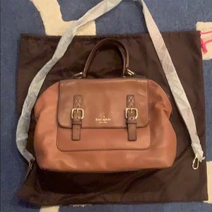 Kate Spade brown leather satchel w crossbody strap